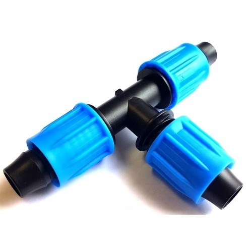 Тройник компрессионный для капельной трубки 16 мм (TC0317) - фото 48318