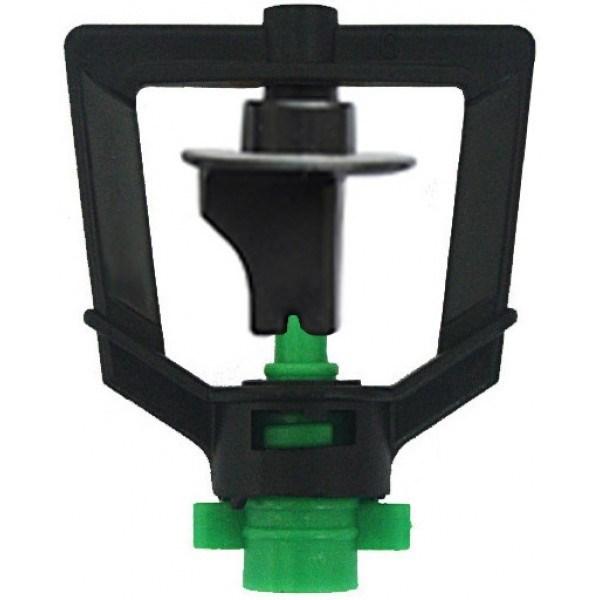 Микроспринклер, зеленый 70л/ч 2bar, радиус 3,4м - фото 5314