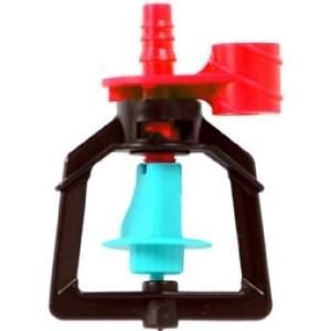 Микроспринклер, подвесной, красный 90л/ч 2bar, радиус 3,9м - фото 5324