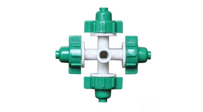 Туманообразователь, 4 сопла, зеленый, 26,0л/ч 2,5bar, радиус 0,8-1,0м (MJ1301A) - фото 5392