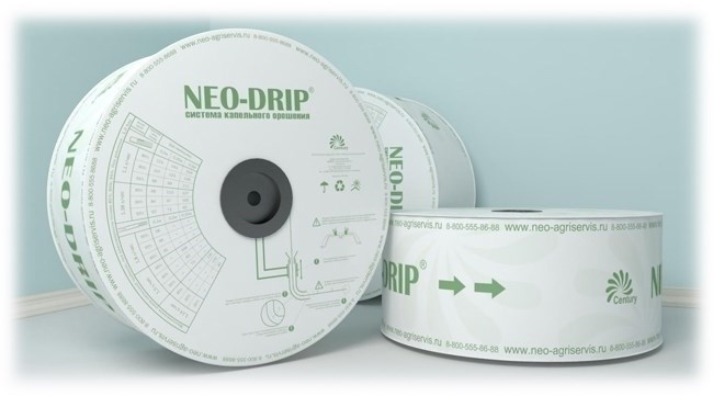 Капельная лента эмиттерная Neo-Drip 8 mil, Шаг 30/1.6л/ч (Бухта 2050 м) - фото 54060