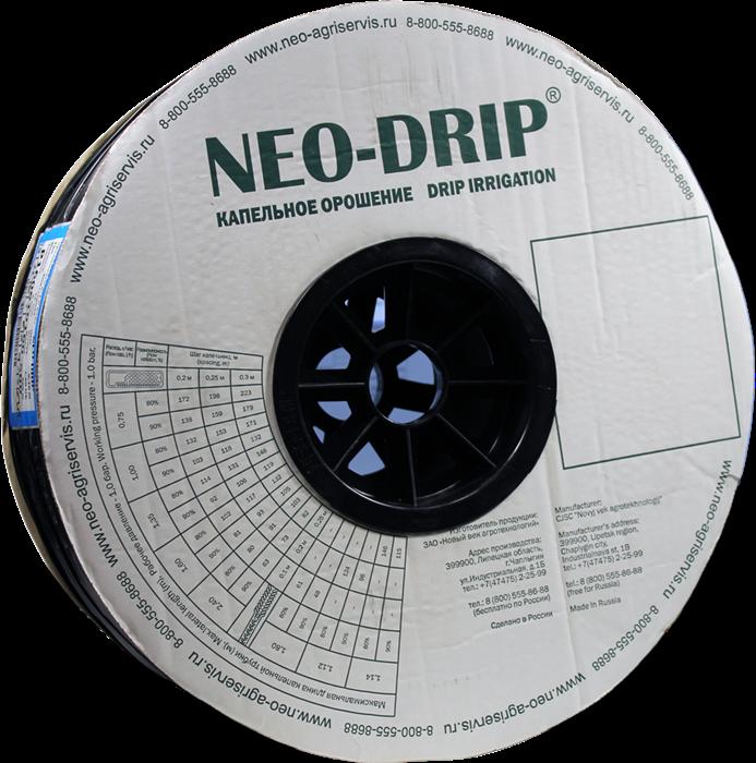 Капельная лента эмиттерная Neo-Drip P16мм 8mil, шаг 20, 1,60л/ч. Бухта 500м - фото 55553