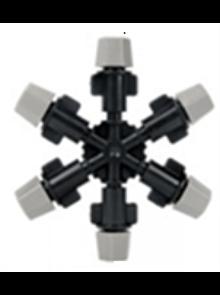 Туманообразователь 6 сопел, 2,0-4bar Серый, радиус 0.9-1.0м, 36,60-45,90л/ч (MJ1362)