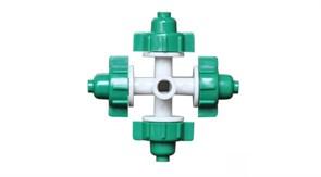 Туманообразователь, 4 сопла, зеленый, 26,0л/ч 2,5bar, радиус 0,8-1,0м (MJ1301A)