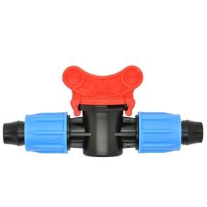 Кран с зажимной гайкой для трубки 16мм со стенкой от 0,9мм до 1,2мм (MV0216)
