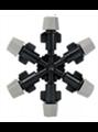 Туманообразователь 6 сопел, 2,0-4bar Черный, радиус 0.9-1.0м, 47,90-60,5л/ч (MJ1361) - фото 48920