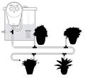 Система автоматического полива для домашних цветов Green Helper GA-120 - фото 49873